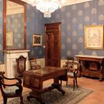 Palazzo dei Nobili - Bene Banca - BCC di Bene Vagienna,  Salle Charles X. Opérations effectuées : restauration des portes et de l'ameublement, placement des damas, reproduction des portes
