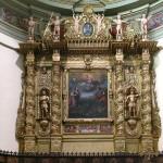 Chiesa di Sant'Ippolito -  Bardoneccchia,  Altare ligneo dorato XVII sec.