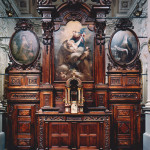 Chiesa di San Bernardino -  Bene Vagienna, Altare ligneo intagliato XVII sec.