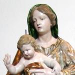 Église de Sant'Ippolito -  Bardonecchia,  Marie avec Enfant du XVIII siècle